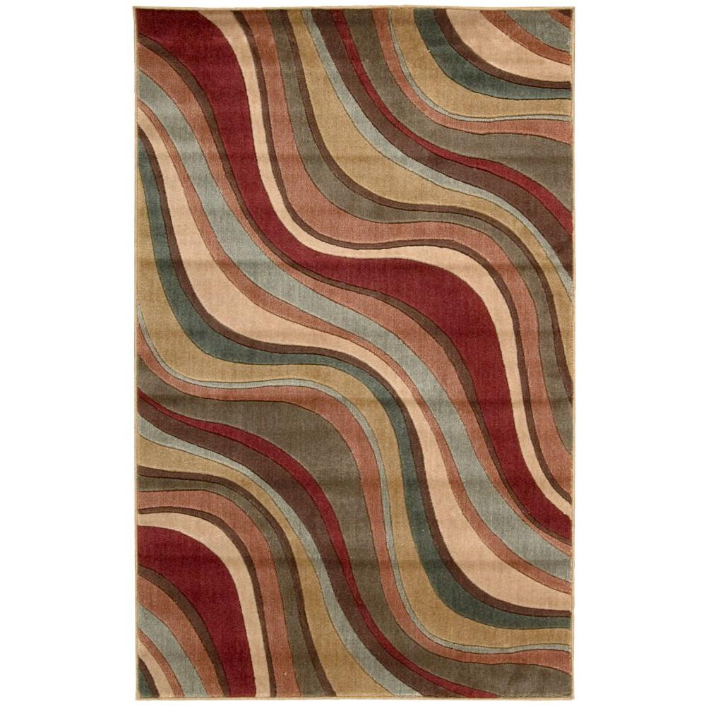 Nourison Somerset Multicolor 3 ft. 6 in. x 5 ft. 6 in. Area Rug