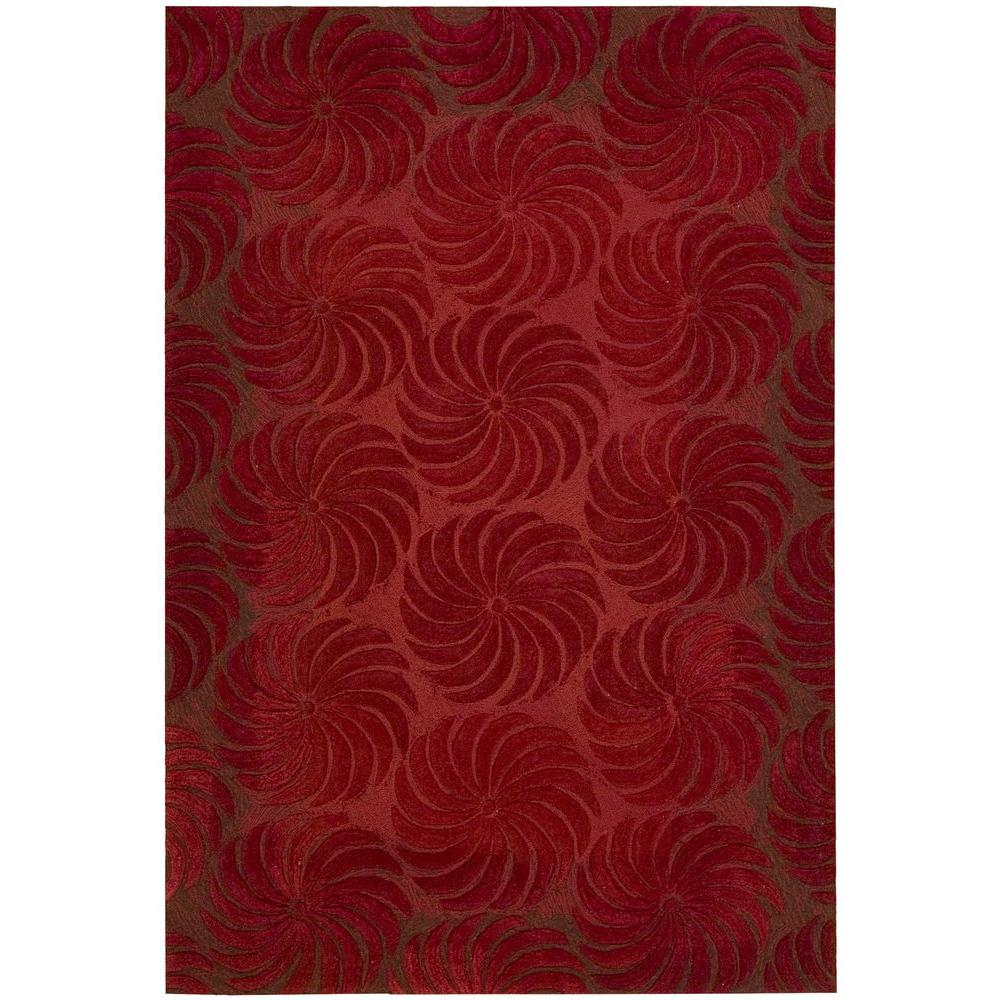 Nourison Overstock Pinwheels Flame 8 ft. x 10 ft. 6 in. Area Rug