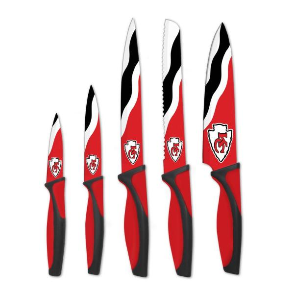 sportsvault NFL Kansas City Chiefs 5-Piece Kitchen Knives KKNFL16