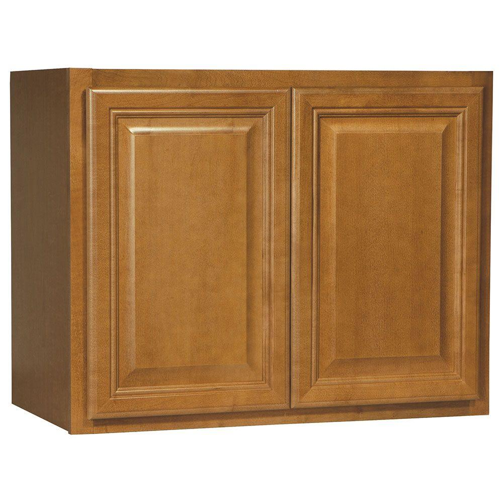 Cambria Assembled 30x23.5x15 in. Wall Bridge Kitchen Cabinet in Harvest