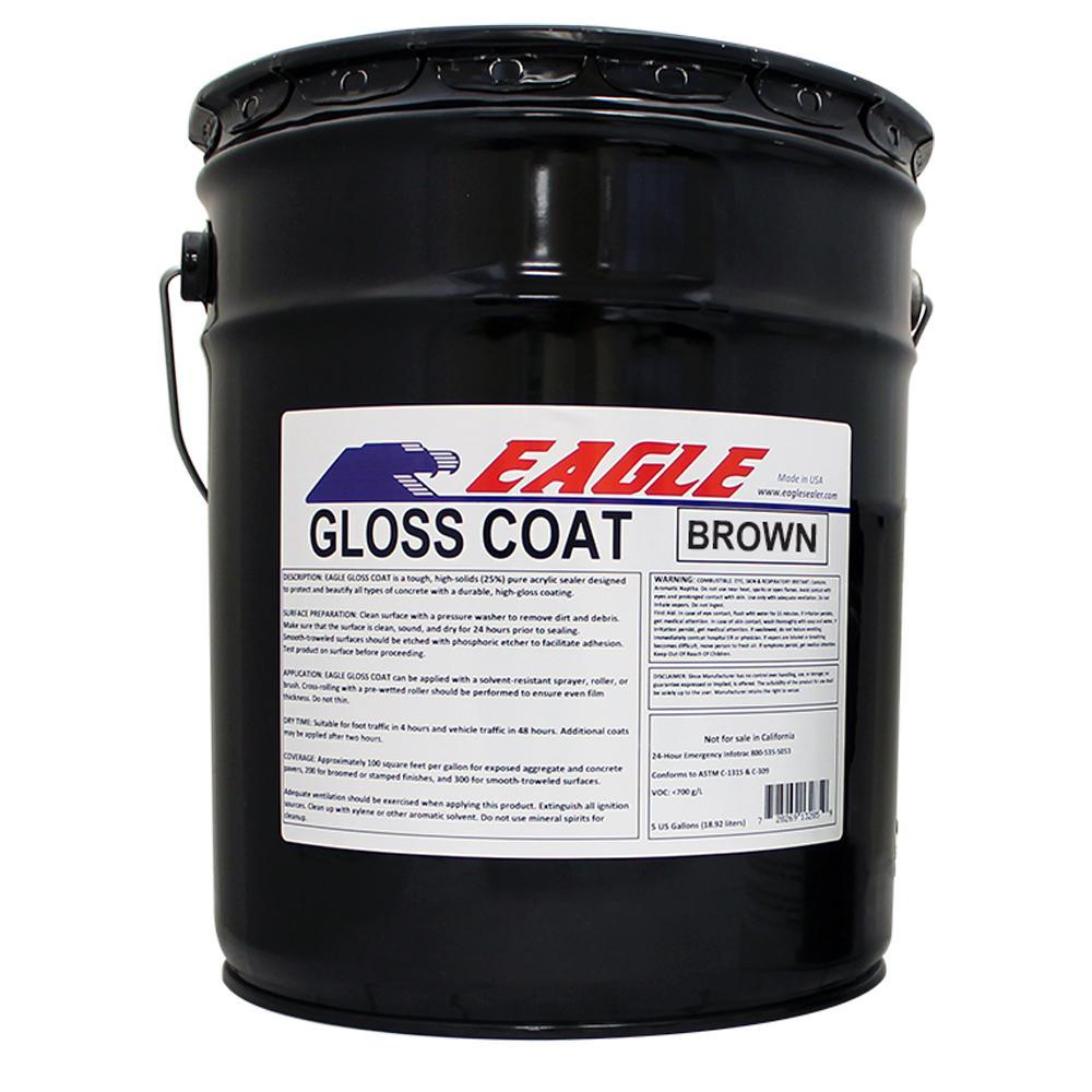 Eagle 5 Gal Gloss Coat Brown Tinted Semi Transparent Wet