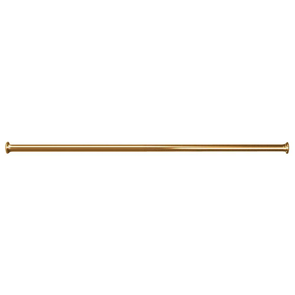 84 In Straight Shower Rod With Flanges Polished Brass