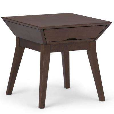 Tessa Walnut Brown Square End Table