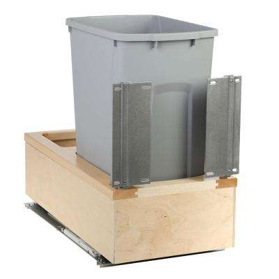 11-1/4 in. x 22-3/8 in. x 19-1/4 in. 35 Qt. Undermount Soft-Close Single Trash Can