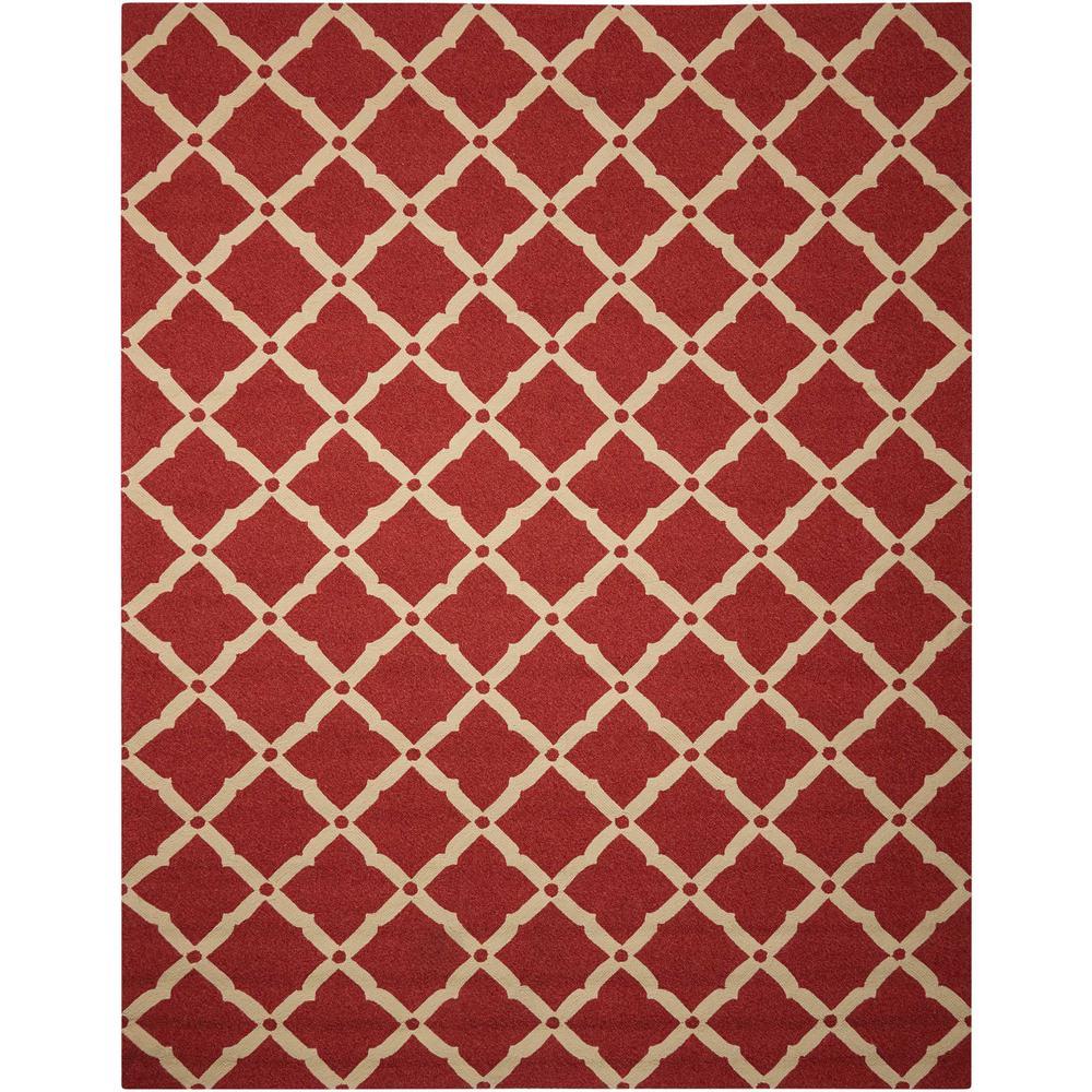 Portico Red 8 ft. x 11 ft. Indoor/Outdoor Area Rug