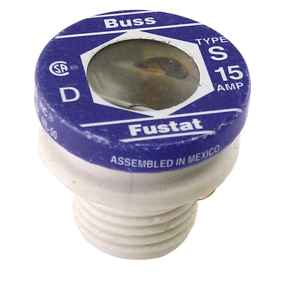 Cooper Bussmann S Series 15 Amp Plug Fuses (2-Pack)