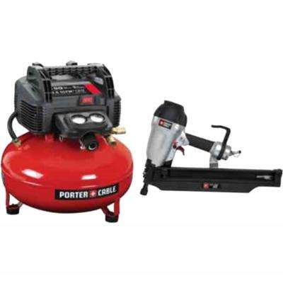 3-1/2 in. Round-Head Framing Nailer and Compressor Combo