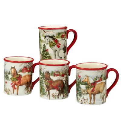 Christmas on the Farm by Susan Winget 18 oz. Mug (Set of 4)