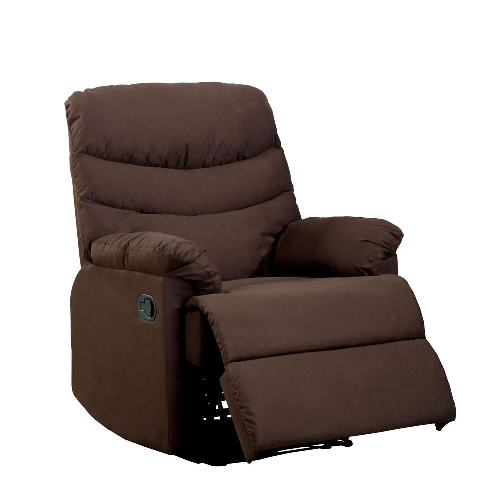 Clive Dark Brown Microfiber Recliner
