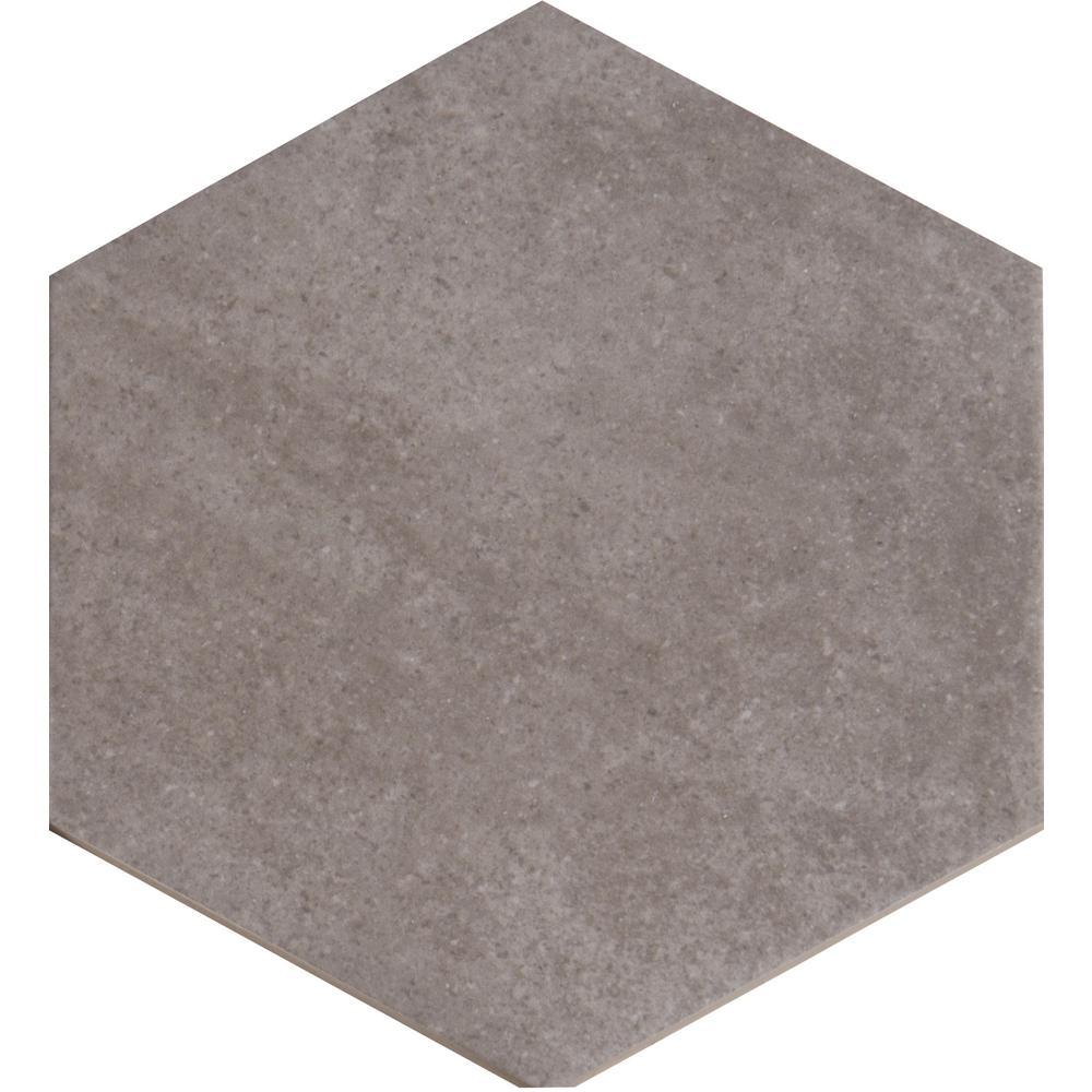 concerto hexagon 7 in x 8 in glazed ceramic wall tile
