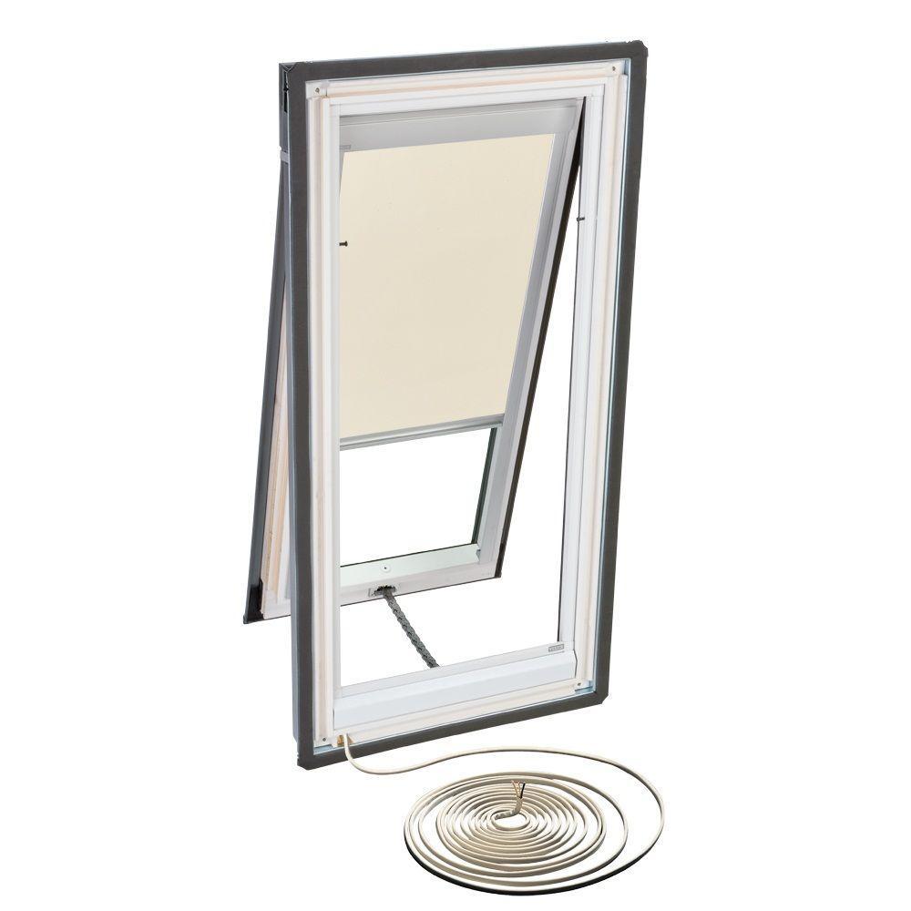 VELUX Beige Electric Blackout Skylight Blinds for VSE M02 Models-DISCONTINUED