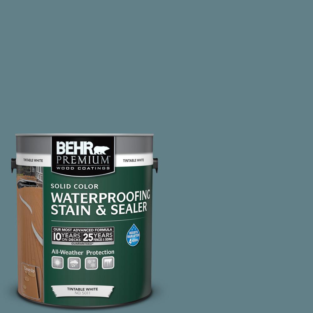 BEHR Premium 1 gal. #SC-113 Gettysburg Solid Color Waterproofing Stain and Sealer
