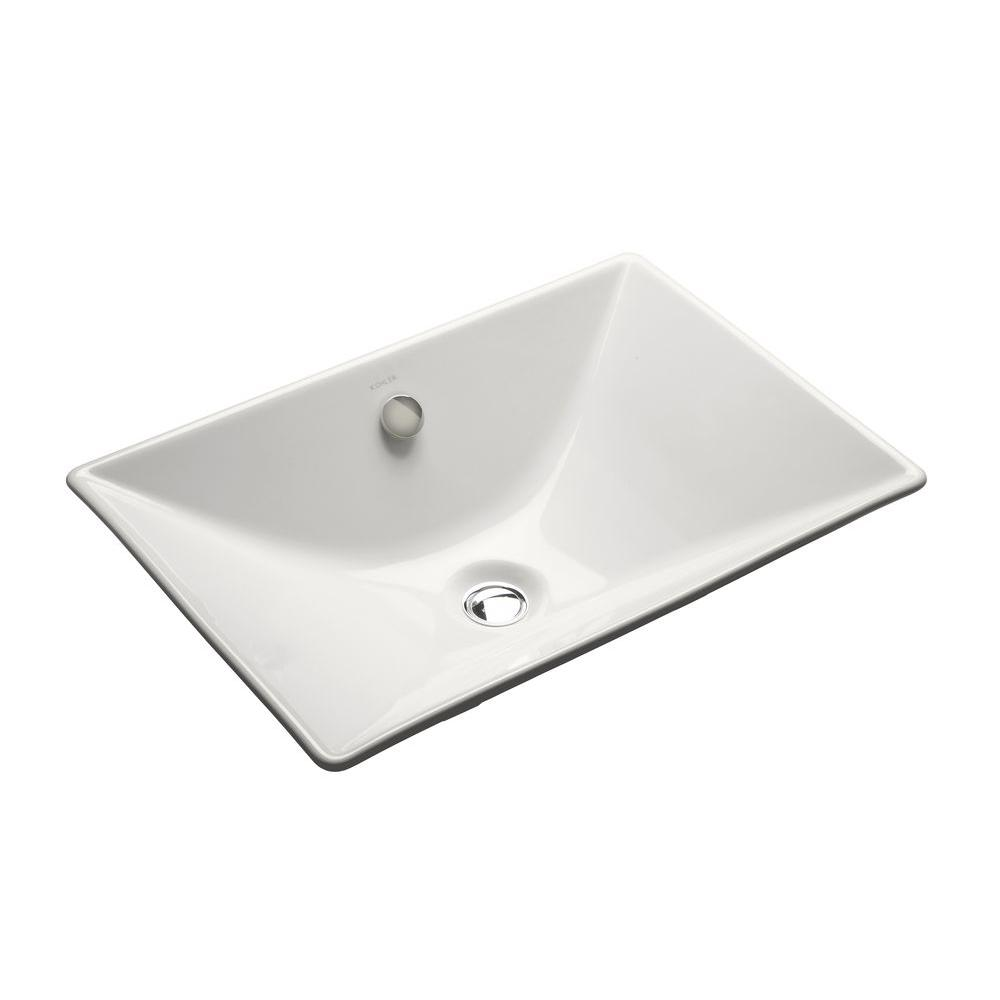 Kohler Reve Fireclay Vessel Sink In White With Overflow Drain