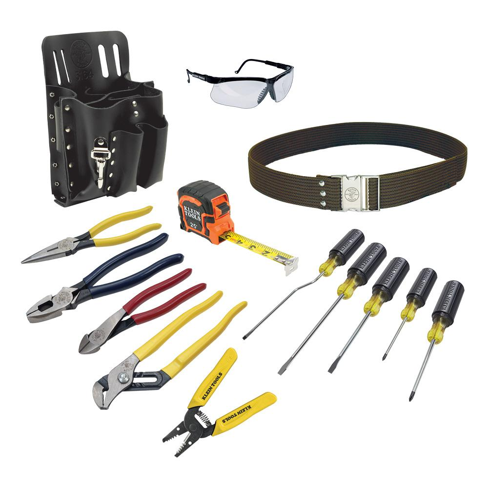 klein tools 14 piece electrician 39 s tool set 80014 the home depot. Black Bedroom Furniture Sets. Home Design Ideas