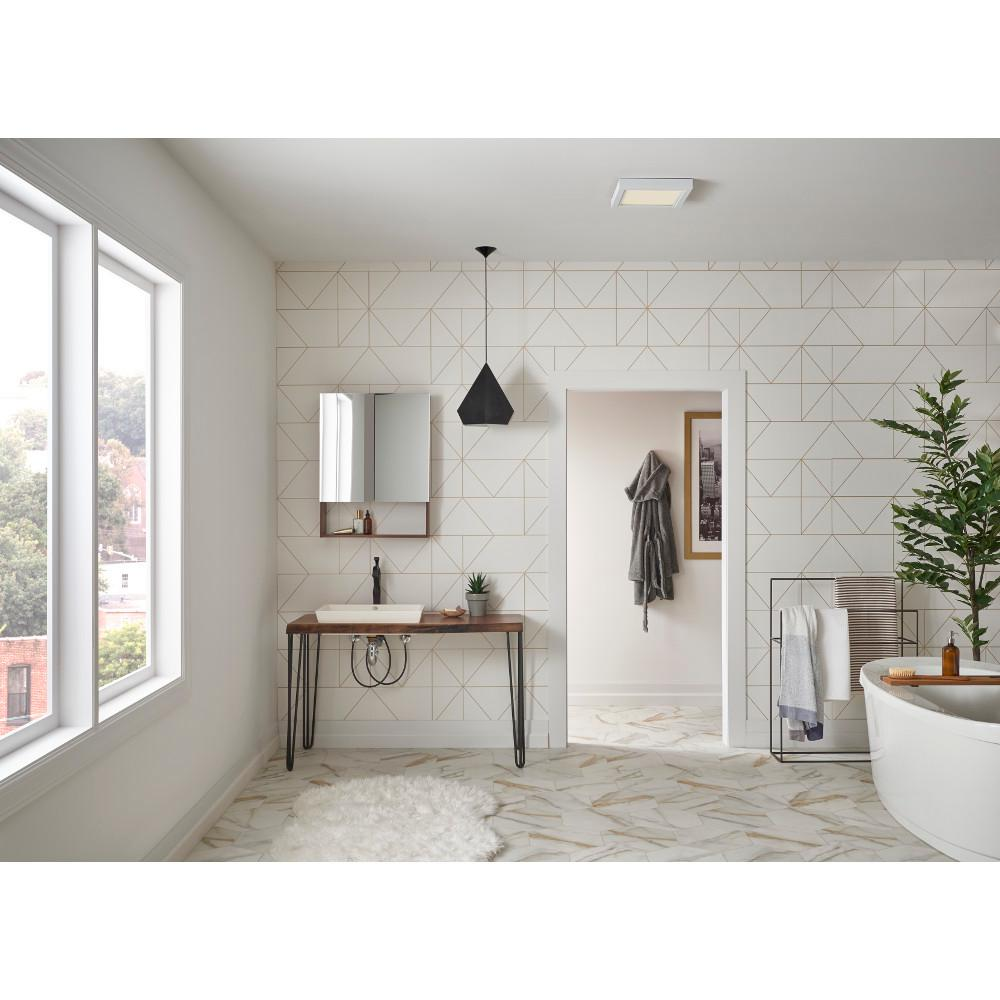 Fine Nutone Roomside Decorative 110 Cfm Ceiling Bathroom Exhaust Fan With Square Led Panel And Easy Change Trim Energy Star Download Free Architecture Designs Terchretrmadebymaigaardcom
