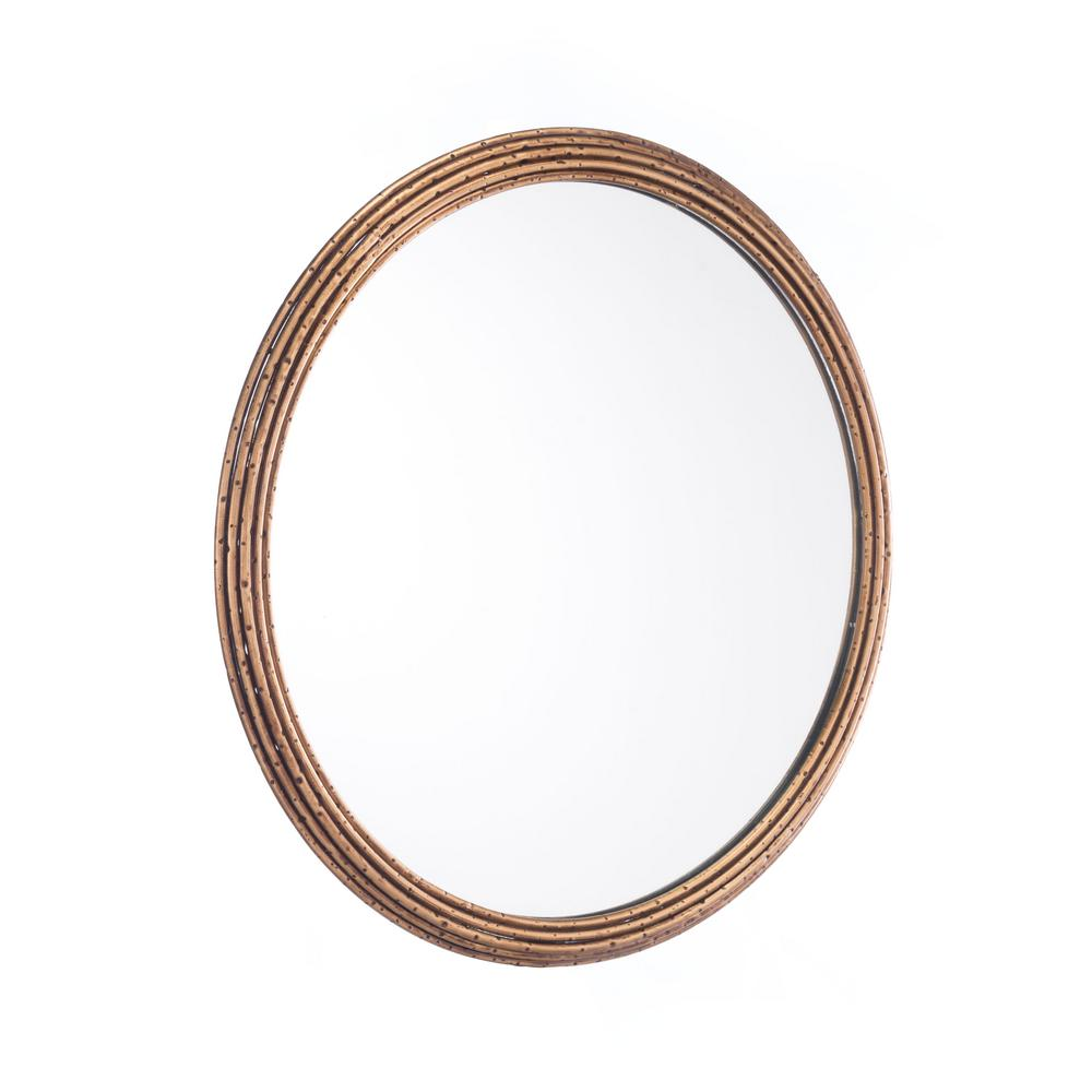 Zuo zero antique small wall mirror a10701 the home depot for Small wall mirrors