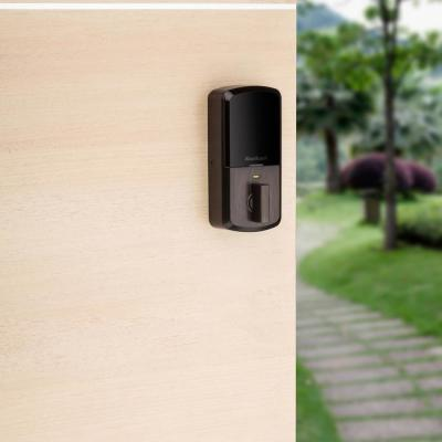 HALO Venetian Bronze Single-Cylinder Electronic Smart Lock Deadbolt featuring SmartKey Security, Touchscreen and Wi-Fi