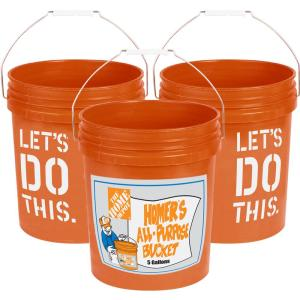 The Home Depot 5-gal  Homer Leakproof Lid-5GLD ORANGE LID
