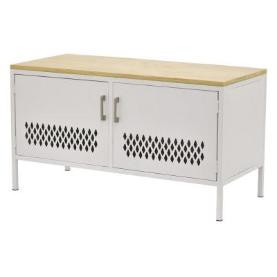 22 in. White Metal Storage Cabinet