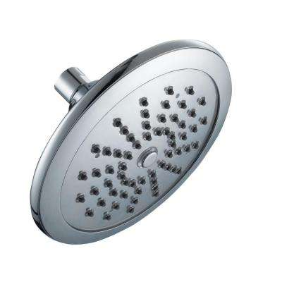 Water Powered LED Lighted 1-Spray 7 in. Fixed Shower Head in Chrome