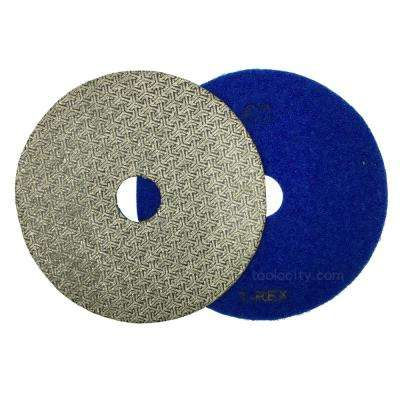 5 in. 60-Grit T-Rex Electroplated Diamond Polishing Pads