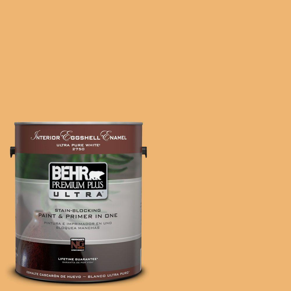 BEHR Premium Plus Ultra 1-Gal. #UL150-14 Sunburst Interior Eggshell Enamel Paint