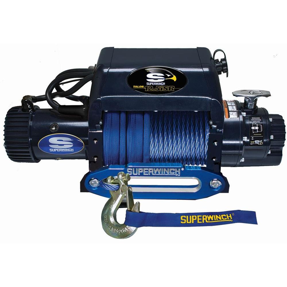 Superwinch Talon 12.5iSR 12-Volt DC Off-Road Winch with Hawse Fairlead and Synthetic Rope