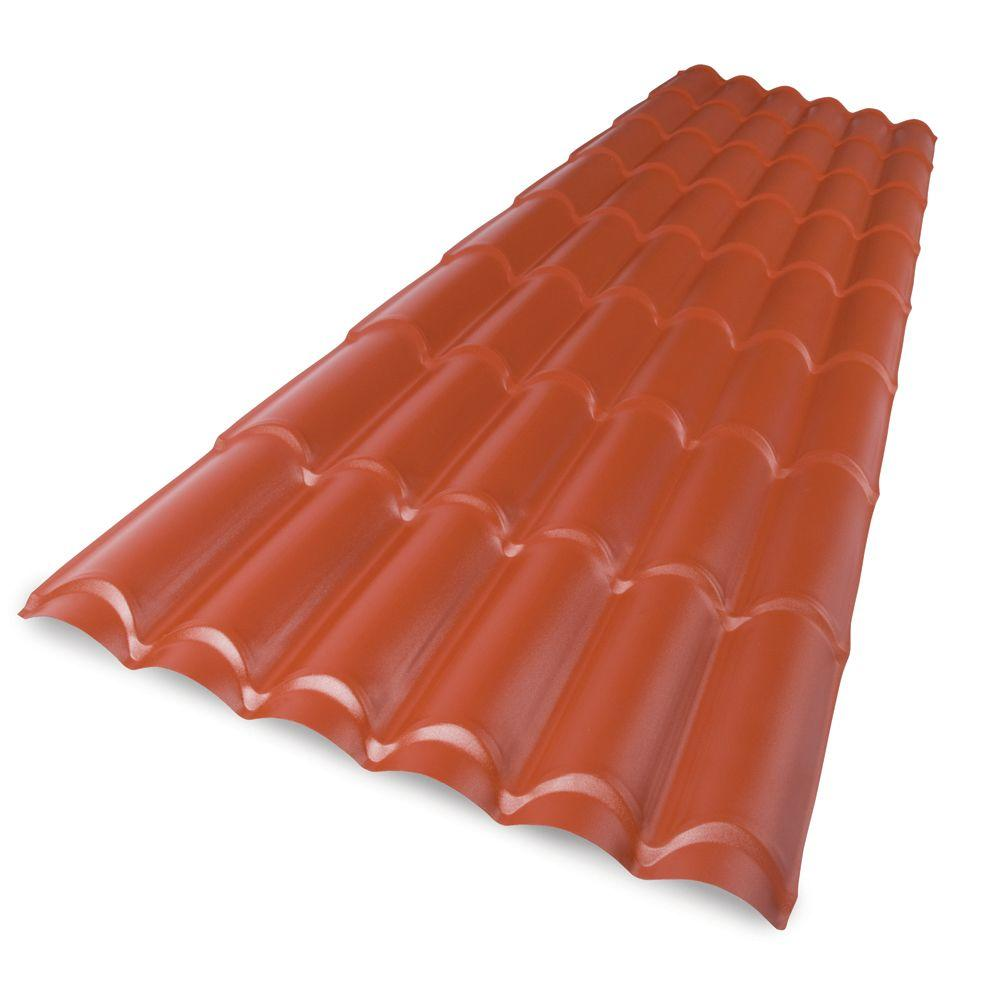 Paltile 8 ft. Polycarbonate Spanish Tile Roof Panel
