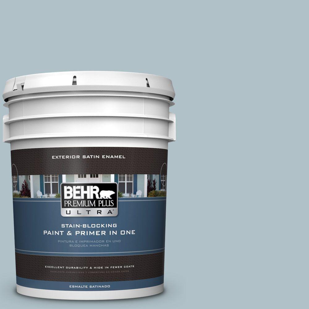 BEHR Premium Plus Ultra 5-gal. #PPU13-14 Ozone Satin Enamel Exterior Paint