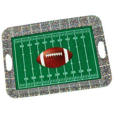 19.75 in. x 1 in. Football Large Serving Tray