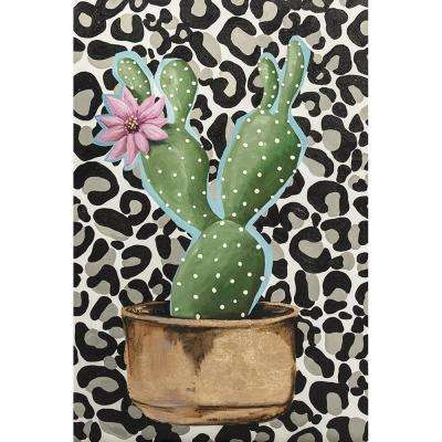 "20 in. x 30 in. ""Crazy Cacti II"" by Jade Printed and Painted Canvas Wall Art"