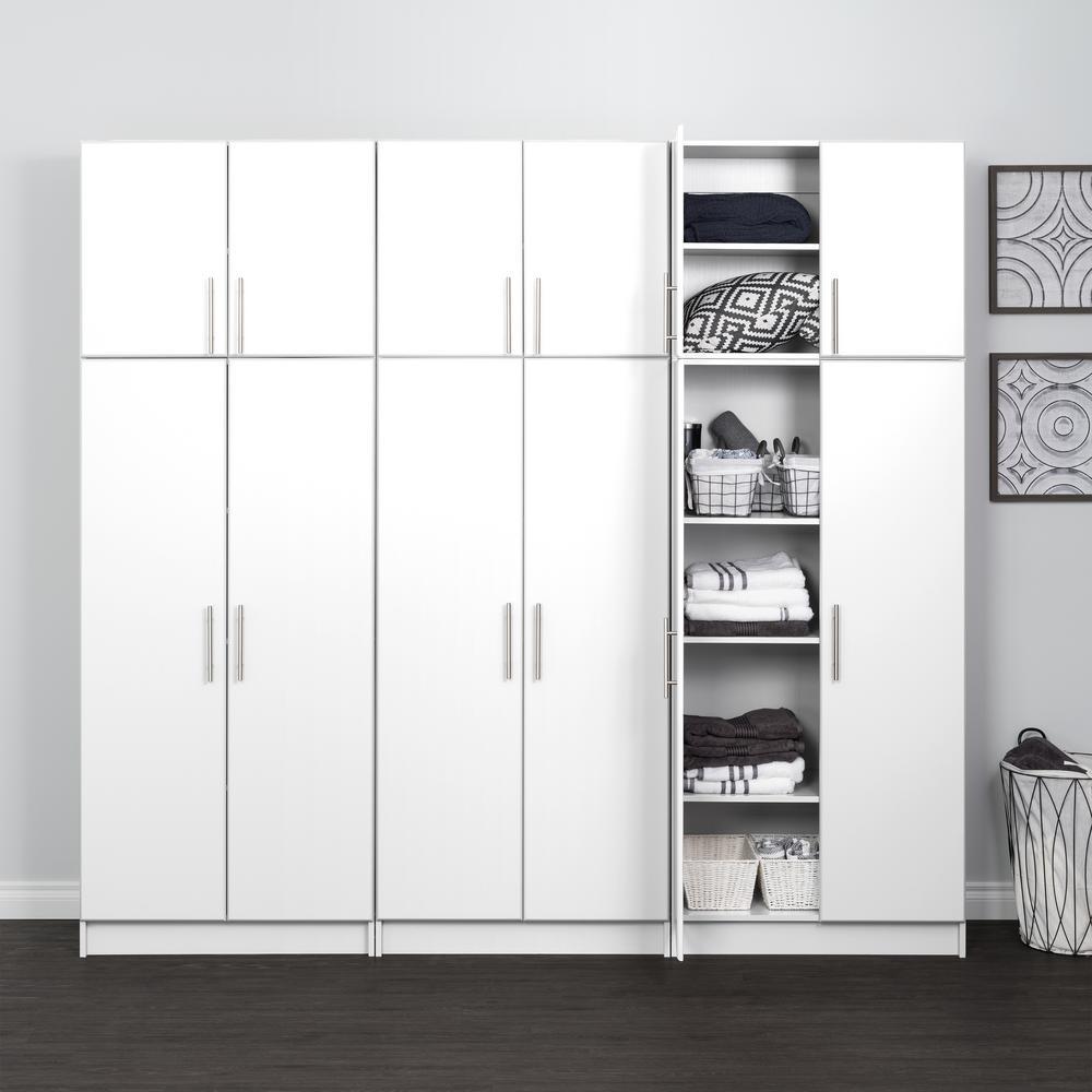 Elite 96 In W X 89 In H X 16 In D Storage Cabinet Set D White 6 Piece Wrsx 1013 6m The Home Depot