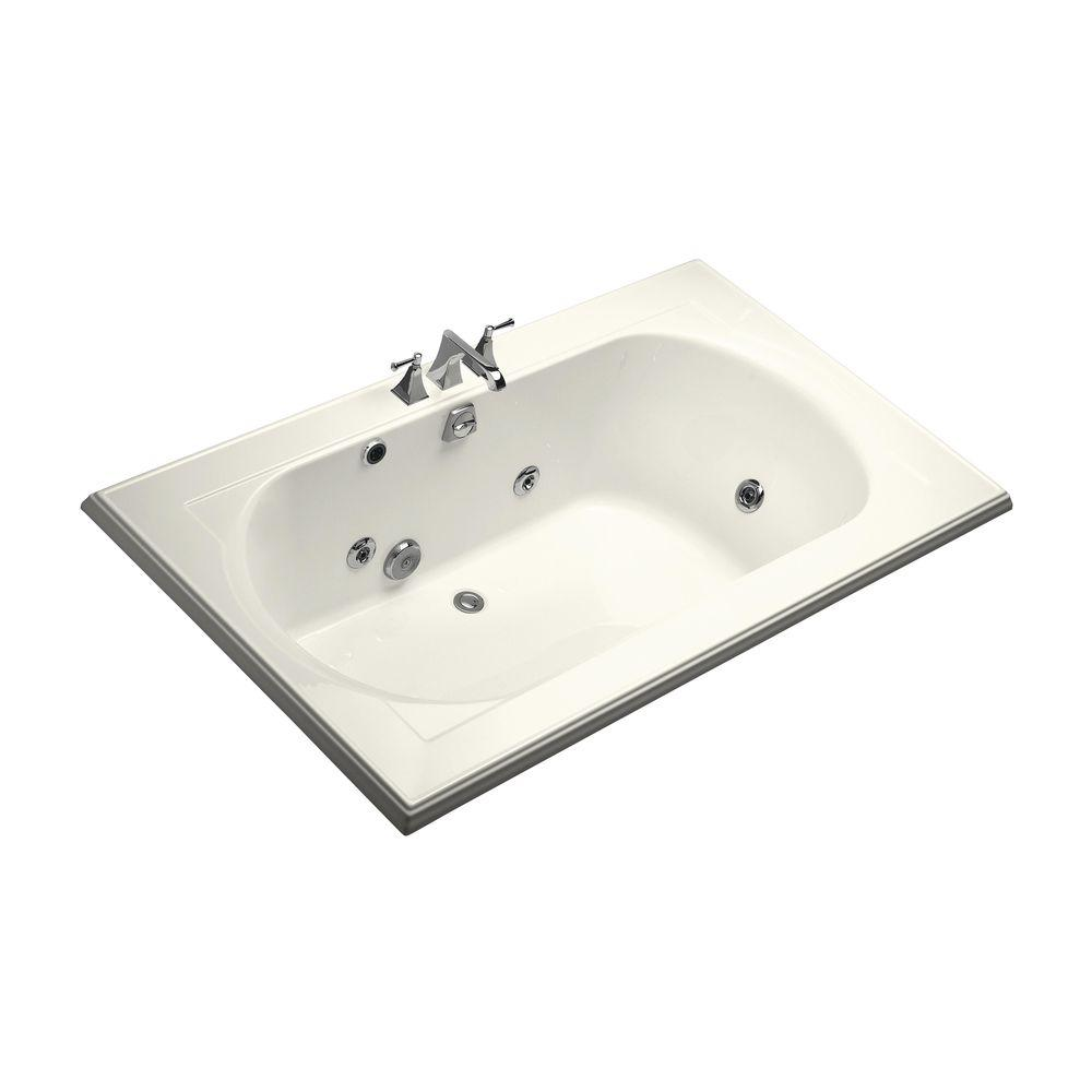 KOHLER Memoirs 6 ft. Whirlpool Tub with Heater and Center Drain in ...