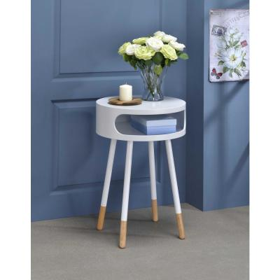 Amelia Red Natural Sonria Round End Table