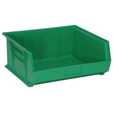 Ultra Series Stack and Hang 8.9 Gal. Storage Bin in Green (6-Pack)