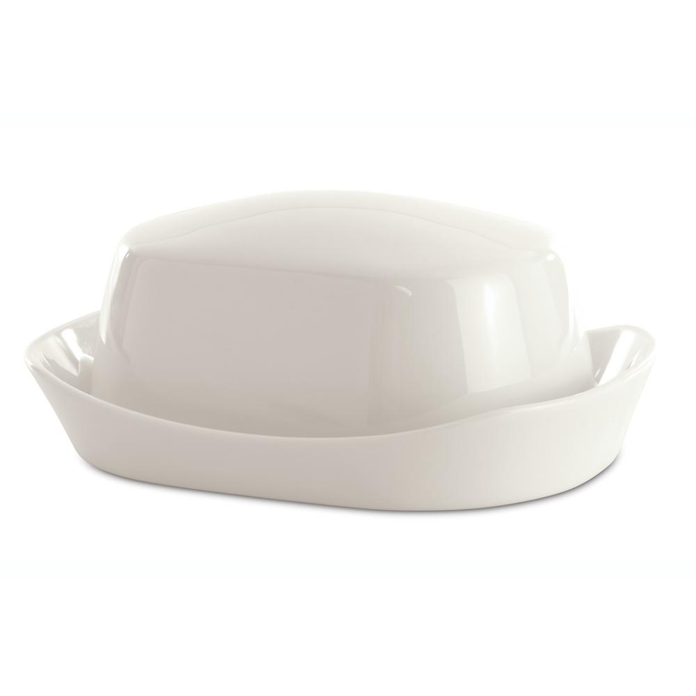 Eclipse Porcelain Butter Dish with Cover