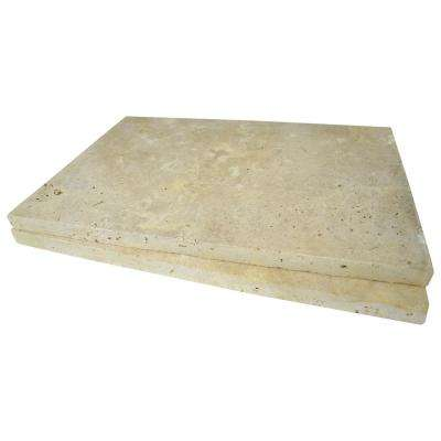 Riviera 16 in. x 24 in. Tumbled Travertine Paver Tile (15 Pieces / 40.05 Sq. ft. / Pallet)