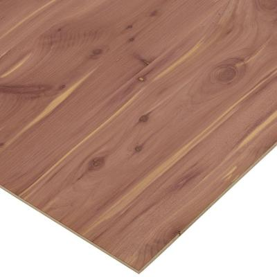 1/4 in. x 2 ft. x 8 ft. PureBond Aromatic Cedar Plywood Project Panel (Free Custom Cut Available)