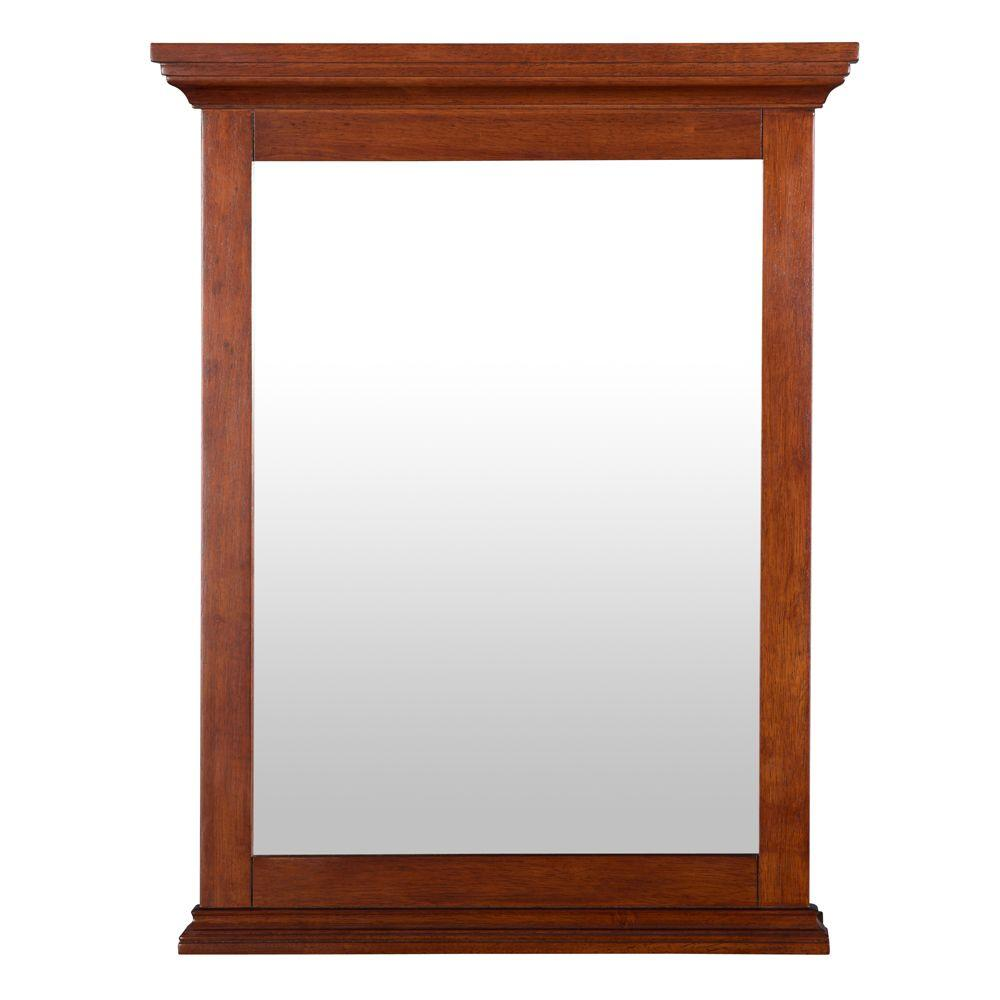 Foremost Admiral 23-1/2 in. L x 30-3/4 in. W Wall Mirror in Walnut