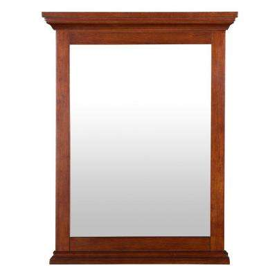 Admiral 24 in. L x 31 in. W Wall Mirror in Walnut