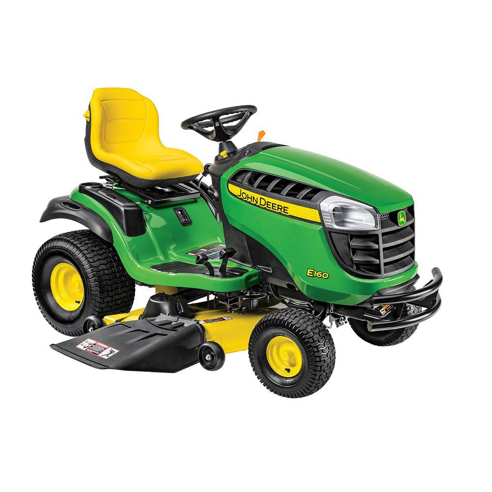 John Deere E160 48 inch 24 HP V-Twin ELS Gas Hydrostatic Lawn Tractor-California Compliant by John Deere