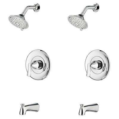 Chatfield Single-Handle 3-Spray Tub and Shower Faucet with 1.8 GPM (Set of 2) in Polished Chrome (Valve Included)