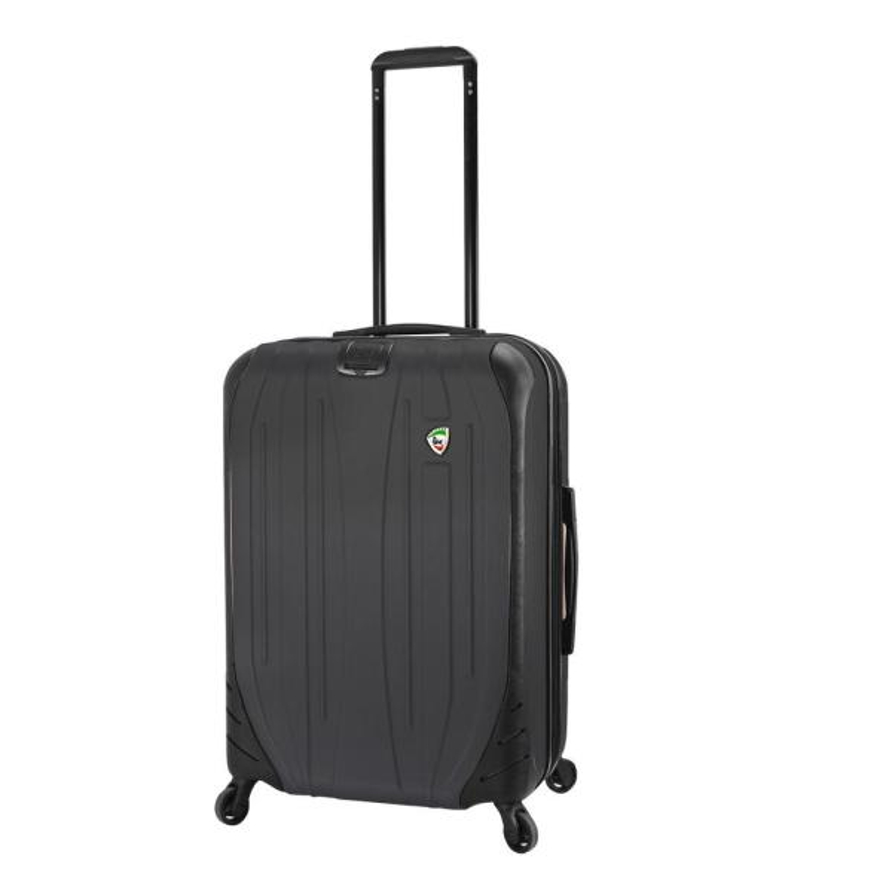 Mia Toro Italy Compaz Hard Side 24 Spinner Luggage BLACK