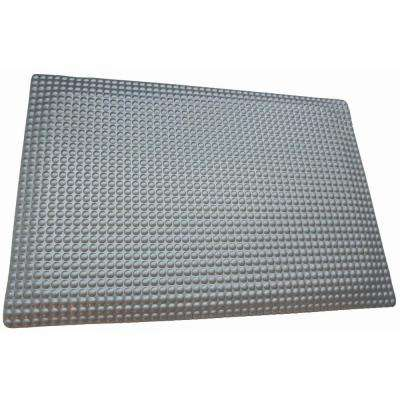 Reflex Double Sponge Glossy Platinum Raised Domed Surface 24 in. x 96 in. Vinyl Kitchen Mat