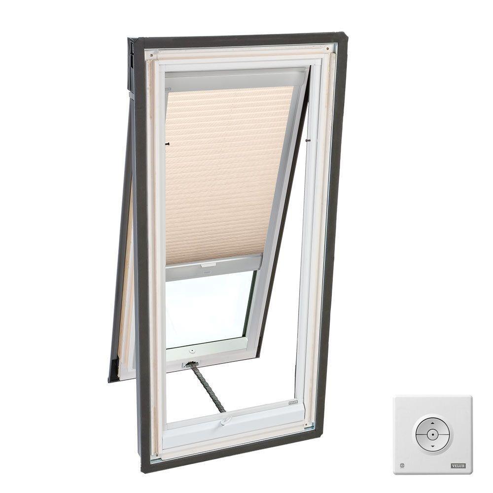 VELUX Lovely Latte Solar Powered Light Filtering Skylight Blind for VS S06, VSE S06, and VSS S06 Models