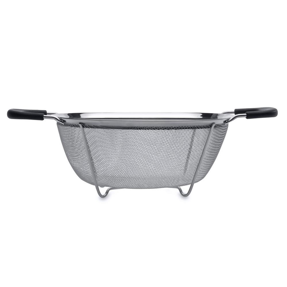 Essentials 10 in. Stainless Steel Round Mesh Colander