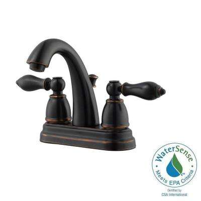 Hathaway 4 in. Centerset 2-Handle Bathroom Faucet in Oil Rubbed Bronze