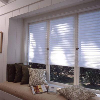 Cut-to-Size White Cordless Light-Filtering Easy to Install Temporary Shades 48 in. W x 72
