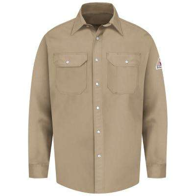 EXCEL FR Men's X-Large (Tall) Tan Snap-Front Uniform Shirt