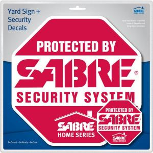 GE SmartHome Security Sign Yard Stake And Window Decals - Office depot window decals instructions